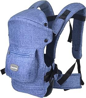 HarnnHalo 赤ちゃん 抱っこ紐 ベビーキャリア おんぶ 収納ポケット付き 装着簡単 (ブルー)