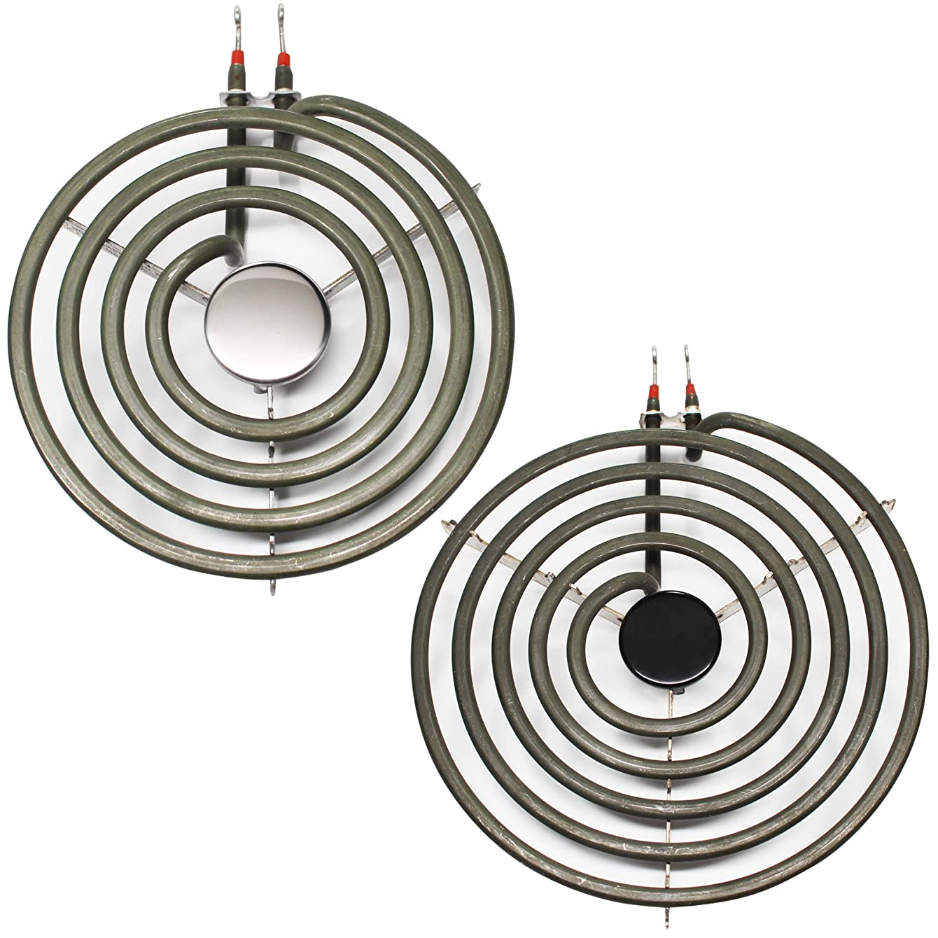 UpStart Components Replacement Frigidaire GEF322BBDB 8 inch 5 Turns & 6 inch 4 Turns Surface Burner Elements - Compatible Frigidaire 316442301 & 316439801 Heating Element for Range, Stove & Cooktop