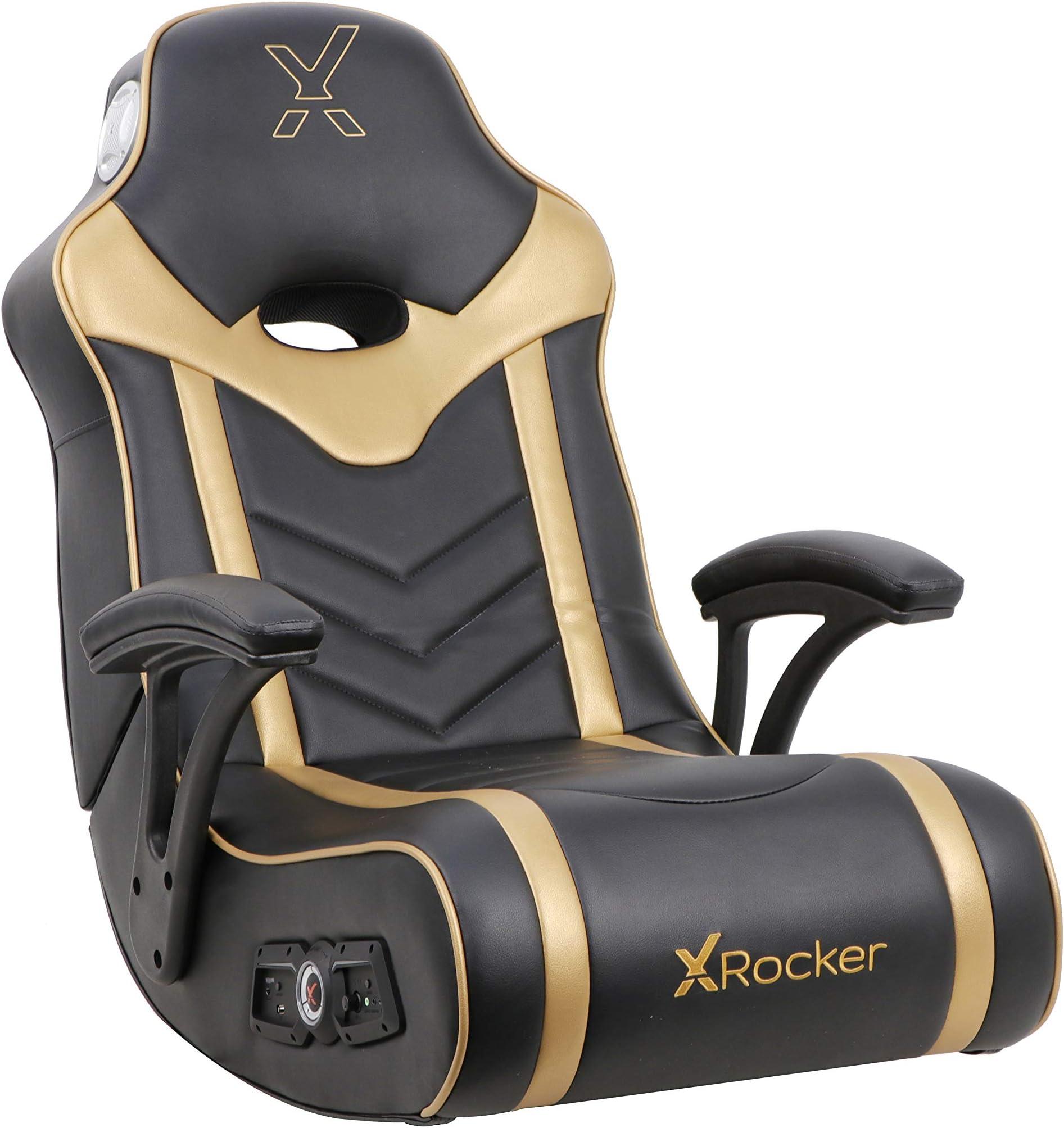 X Rocker, 5110501, 24K Floor Rocker 2.1 BT, 32 x 24.5 x 31.5, Black/Gold