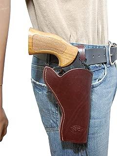 Barsony New Burgundy Leather 49-er Style Gun Holster for 4 inch Revolvers