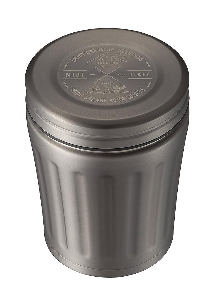 食器棚はちみつ感謝するシービージャパン スープジャー グレー 350ml 高耐久 フッ素加工 フードジャー midi
