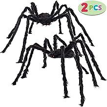JOYIN 2 Pack 5 Ft. Halloween Outdoor Decorations Hairy Spider (Black)