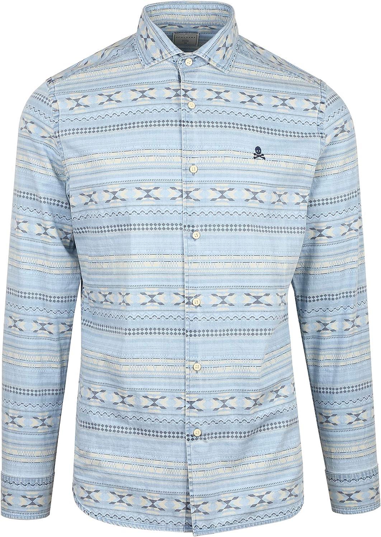 Scalpers Camisa Denim Motivos - Denim / 40: Amazon.es: Ropa