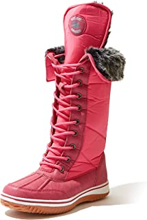 Women's Knee High 2-Tone Up D'cor Zipper Cowboy Warm Fur Water Resistant Eskimo Snow Boot
