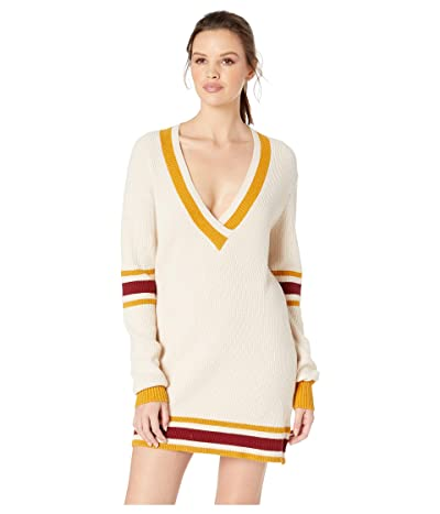 For Love and Lemons Ivy League Sweater Dress (Mustard) Women
