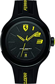 Ferrari Scuderia FXX Men's Black Dial Rubber Band Watch - 830221