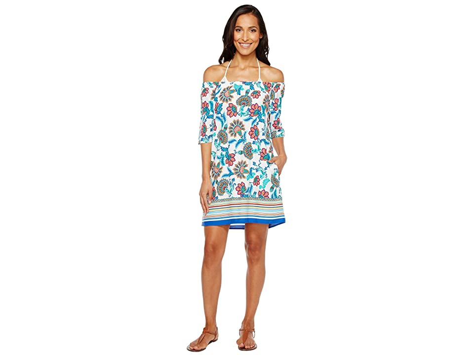 Tommy Bahama Fira Floral Off The Shoulder Short Dress Cover-Up (White) Women