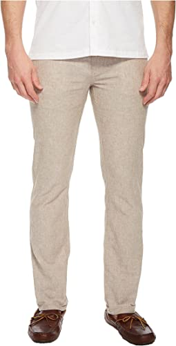 Slim Fit Solid Linen Pants