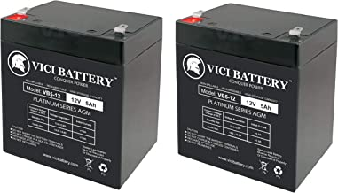 12V 5AH Battery Replacement for Genesis Datasafe NPX-25TFR - 2 Pack - VICI Battery Brand Product