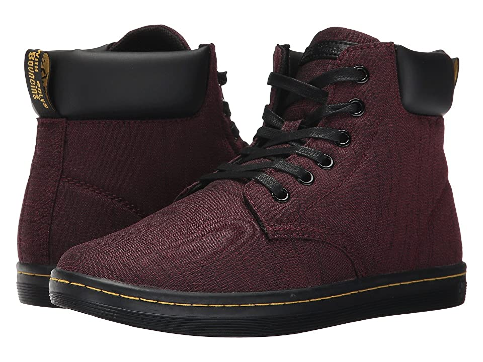 Dr. Martens Maelly Padded Collar Boot (Cherry Red Serge/Black Pu Srs) Women