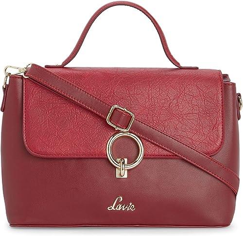 Pearl Flap Satchel Women s Handbag Red