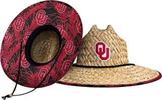 FOCO Men's NCAA Team Logo Floral Straw Sun Hat