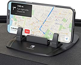 Cell Phone Holder for Car - FITFORT Universal Silicone Anti-Slip Car Phone Mount GPS Holder Mounting in Vehicles Pickup Compatible with iPhone 12/12 Pro Max/11 Pro/X/8/7 Plus, Samsung S/Note Phones