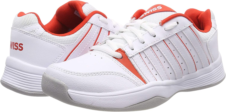 One Size K-Swiss Performance Womens Court Smash Carpet White//Fiesta-m Tennis Shoes
