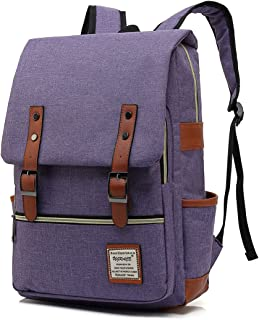 UGRACE Slim Business Laptop Backpack Elegant Casual Daypacks Outdoor Sports Rucksack School Shoulder Bag for Men Women, Tear Resistant Unique Travelling Backpack Fits up to 15.6Inch MacBook in Violet