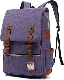 UGRACE Slim Business Laptop Backpack Elegant Casual Daypacks Outdoor Sports Rucksack School Shoulder Bag for Men Women, Tear Resistant Unique Travelling Backpack Fits up to 15.6Inch Macbook in Violet