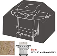 BenefitUSA Gas Grill Barbeque Cover BBQ Protector Outdoor Cart 70/31.5 L 24 D 48/36.2 T -Grey