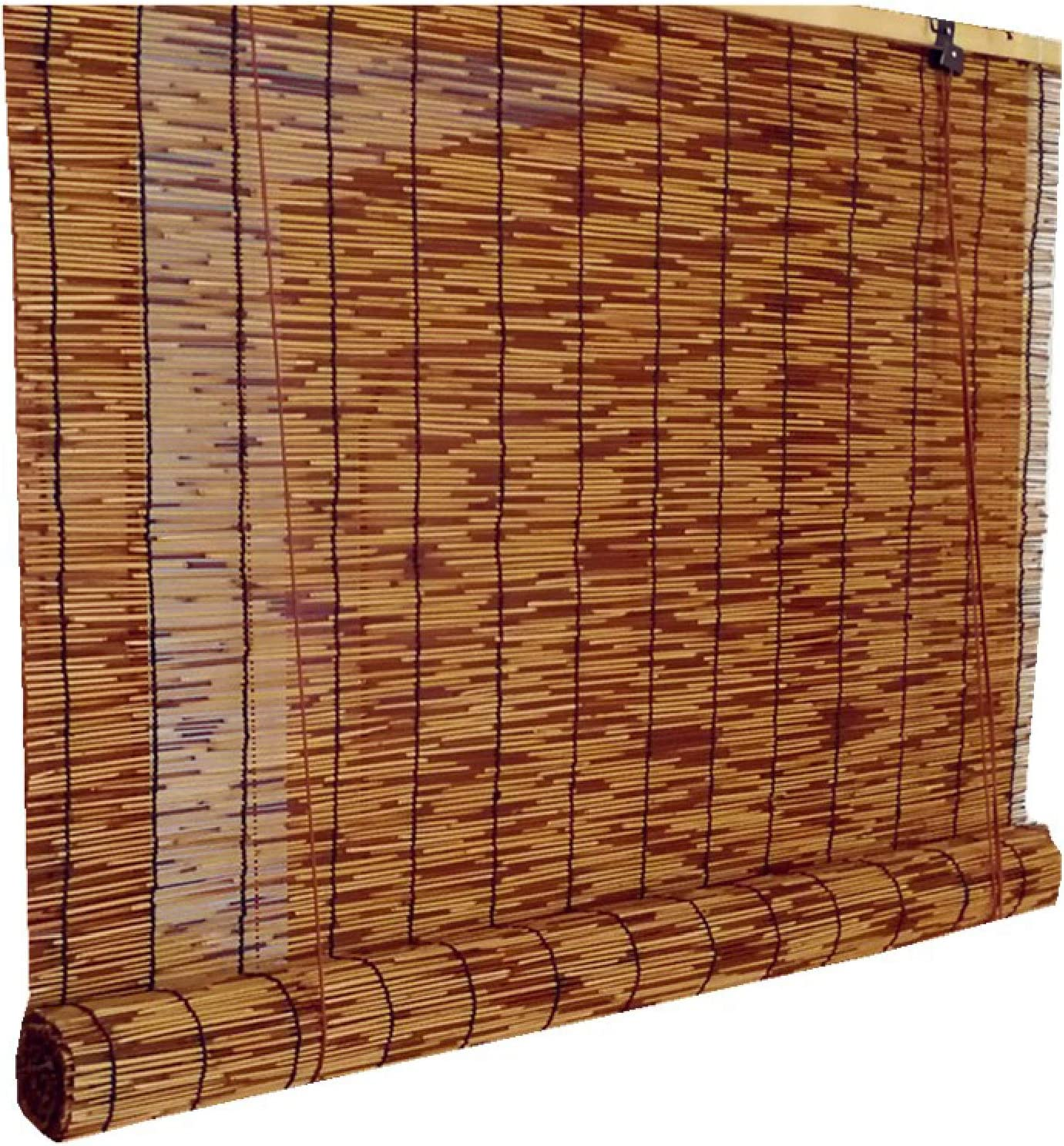 KDDFN Bamboo Roll Up Window Blind,Exterior Roller Shade Outdoor,Roman Blinds Louver Window Roller Blinds,Hand-Woven,Retro Decoration,Breathable,Anti-Uv,Protection Privacy (100 * 120cm/39 * 47in) 100*120cm/39*47in