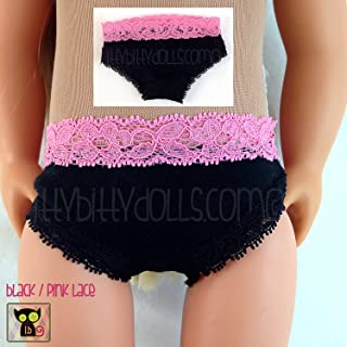Black /& Pink Knit Cotton Panties Undies for 18 Dolls