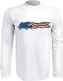 Rattlin Jack Mens UPF 50 Performance Fishing Shirt Sailfish Flag