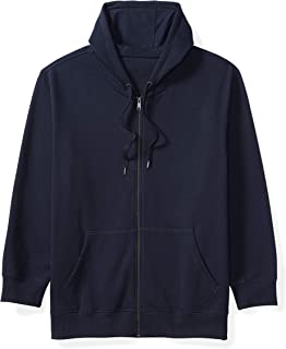 Amazon Essentials Mens Big & Tall Full-Zip Hooded Fleece Sweatshirt fit ...