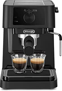 DeLonghi EC230 Coffee Maker with Milk Frothing Nozzle, 1100 Watts - Black