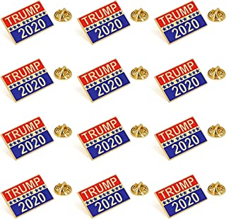 Donald Trump for 2020 President Election Pin-Pack of 12