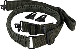Estobi Outfitters Gun Sling for Rifle Shotgun or Crossbow - Extra Strong 550 Paracord - 2 Point Quick Adjustable Strap with Metal Swivels (Multiple Color Options)