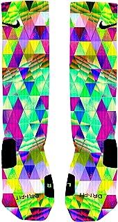 Psychedelic Prism Custom Elite Socks | Dri-Fit Moisture...