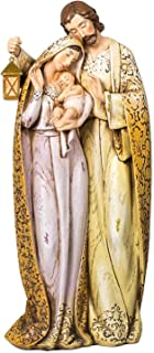 Embroidered Robe Holy Family 10 inch Resin Stone Christmas Nativity Figurine