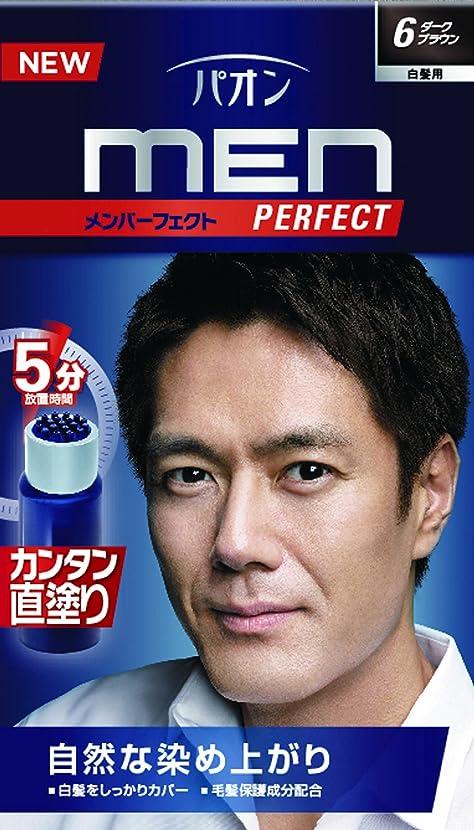 ナチュラル楽な純度パオン メンパーフェクト 6 ダークブラウン 40g+40mL (医薬部外品)