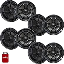 """$879 » Sponsored Ad - wet sounds - Four Pairs of RECON6-BG Recon Series 6.5"""" Coaxial Speakers with Black XS Grilles and Cones"""