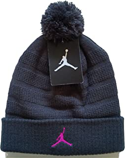 low priced 27e72 2253f NIKE Air Jordan Unisex Jumpman Knit Winter Cuffed Pom Beanie Ski Cap Hat,  Anthracite Wolf