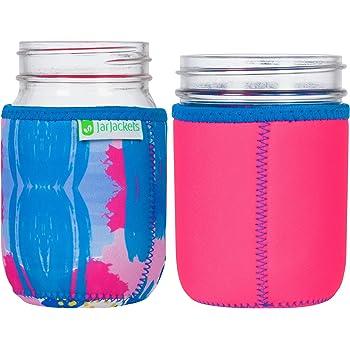 JarJackets Neoprene Mason Jar Protector Sleeve - Fits 16oz (1 pint) Jars (1, Hot Pink)