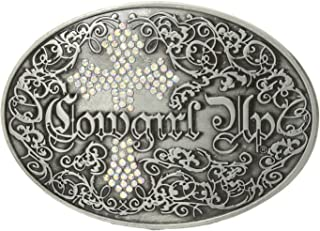 M/&F Western Womens Tribal Stamped Oval Buckle