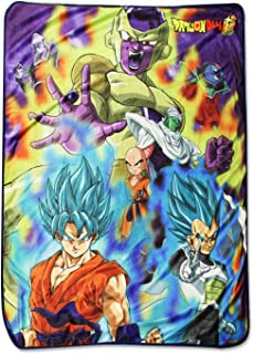 Dragon Ball Super 57922 Super Resurrection F Group Throw Blanket, One Size, Multicolor