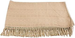 NOVICA Beige Hand Woven Alpaca Blend Throw Blanket, 'Sandy Passion'