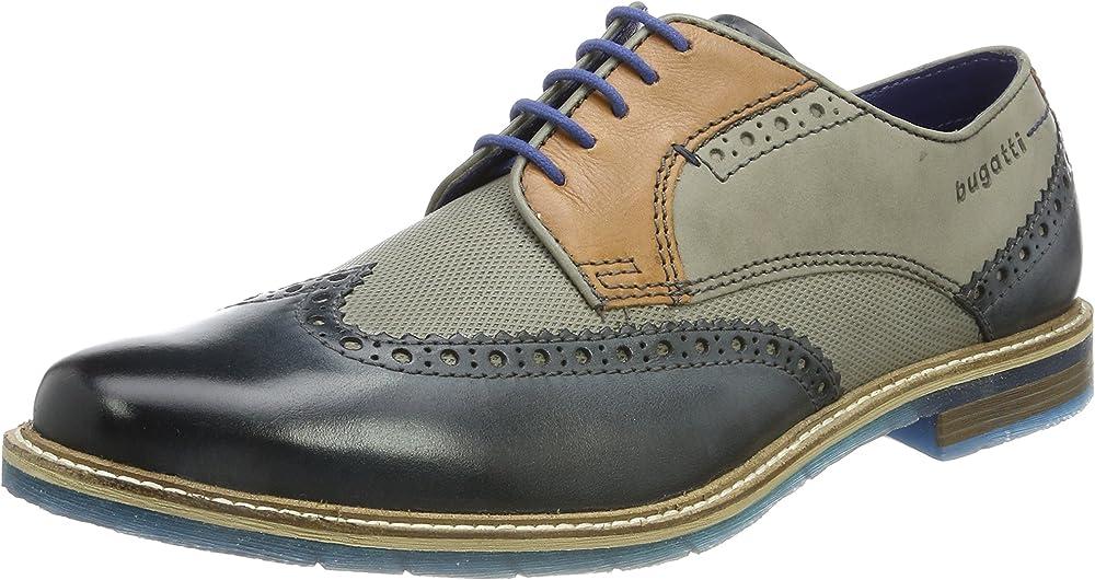 Bugatti,scarpe stringate derby per uomo,in pelle 312259041111