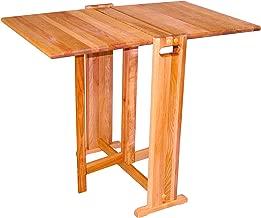 Catskill Craftsmen Fold-A-Way Butcher Block Table