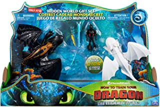 How to Train Your Dragon 3: The Hidden World Gift Set Toothless and Lightfury Dragons with Hiccup and Color Change Reveal Crysta