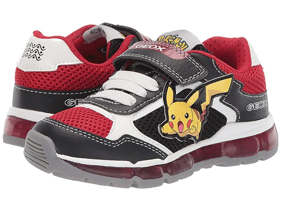 Geox Kids Android Boy 20 (Toddler) (Black/Red) Boy
