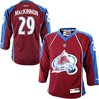 Reebok Nathan MacKinnon Colorado Avalanche Burgundy NHL Youth Home Replica Jersey