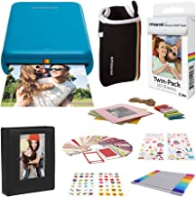 Polaroid Zip Wireless Mobile Photo Mini Printer (Blue) Compatible w/iOS & Android, NFC & Bluetooth Devices with Accessories Bundle