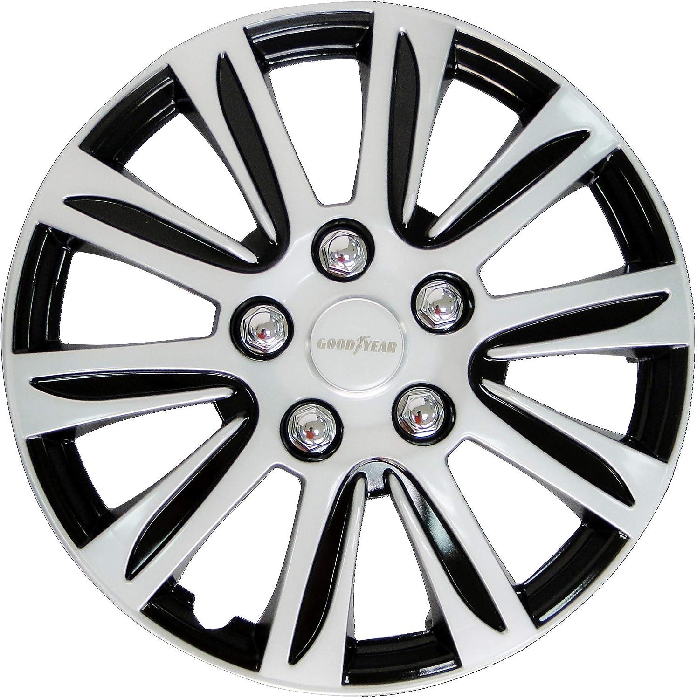Goodyear 10626 Auto Radkappen Radzierblenden Laredo 4 Er Set Schwarz Silber 35 56 Cm 14 Zoll Auto