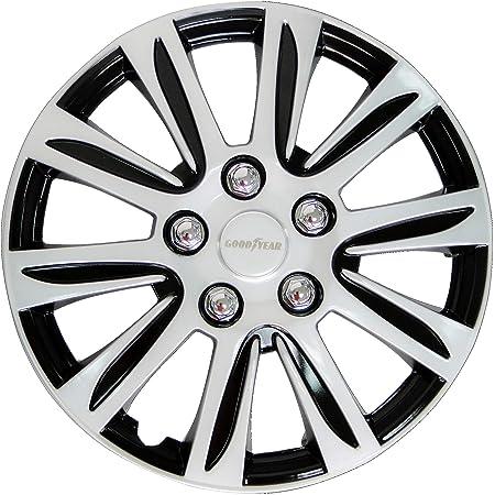 Goodyear 10627 Auto Radkappen Radzierblenden Laredo 4 Er Set Schwarz Silber 38 10 Cm 15 Zoll Auto