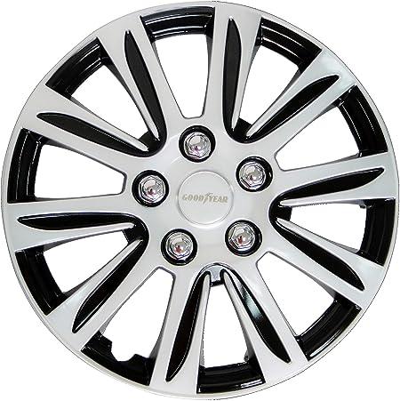 Goodyear 10628 Auto Radkappen Radzierblenden Laredo 4 Er Set Schwarz Silber 40 64 Cm 16 Zoll Auto