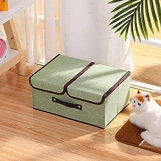 WLA Vêtements Jouets Boîte de Rangement, Grandes boîtes de Rangement de Cubes Pliables avec couvercles et poignées, pour O...