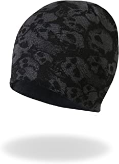 Hot Leathers Ancient Skulls Knit Cap (Black, One Size)
