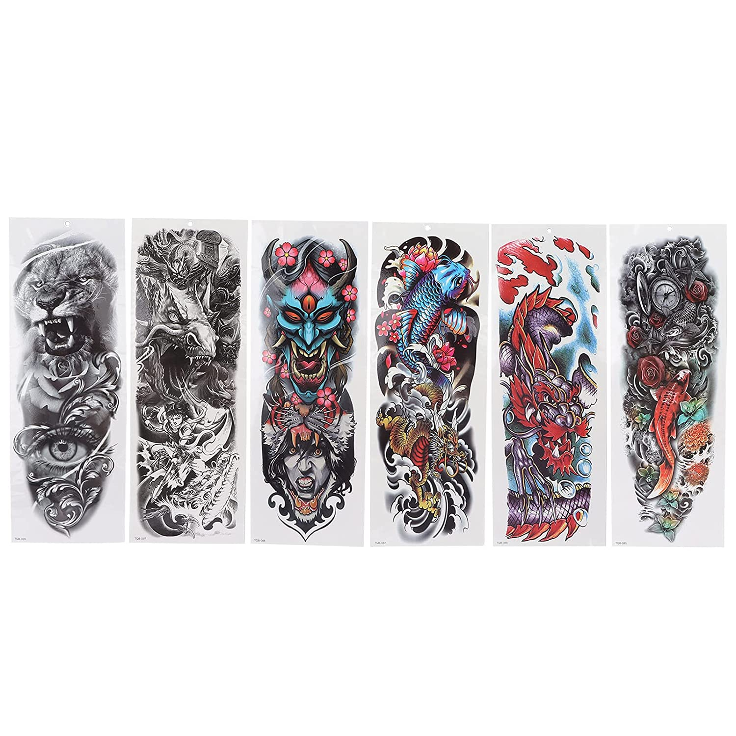 Ranking TOP10 All stores are sold 6pcs Set Personalized Tattoo Sticker Full T Sleeve Long Lasting