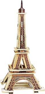 PONTE COLLECTION Eiffel Tower Model Kit 3D Puzzles Architecture Wooden Building Kit Wood Building Models Wooden Model Kits 22-pcs